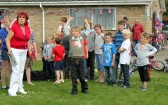 Wellington Boot Throwing at the Royal Wedding Fun Day in Pymoor.