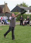 Steve Knowles, Wellington Boot throwing at the Royal Wedding Fun Day in Pymoor.