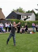 Steve Coulson, Wellington Boot throwing at the Royal Wedding Fun Day in Pymoor.
