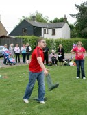 Daniel Coulson, Wellington Boot throwing at the Royal Wedding Fun Day in Pymoor.