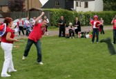 Mark Taylor, Wellington Boot throwing at the Royal Wedding Fun Day in Pymoor.