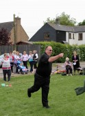 Wellington Boot throwing at the Royal Wedding Fun Day in Pymoor 2011.