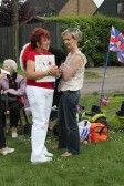 Christine Saberton & Becky Taylor at the Royal Wedding Fun Day in Pymoor, 2011.