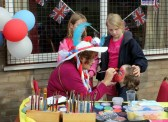Jeanette Moser, 'face painting' at the Royal Wedding Fun Day in Pymoor 2011.