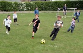Five-a-side football being played at the Royal Wedding Fun Day in Pymoor 2011.