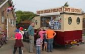The Icecream Van arrives at the Royal Wedding Fun Day in Pymoor.