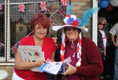 Prizegiving at the Royal Wedding Fun Day in Pymoor 2011.