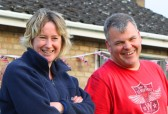Jenny Taylor & Paul Spittlehouse at the Royal Wedding Fun Day in Pymoor 2011.