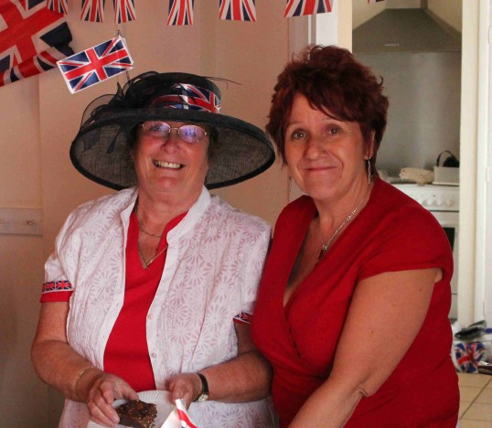 Cynthia Parson & Christine Saberton at the Royal Wedding Fun Day in Pymoor 2011.