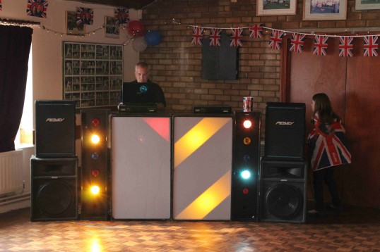 Rick Stacey organised a Disco after  the Royal Wedding Fun Day in Pymoor 2011.