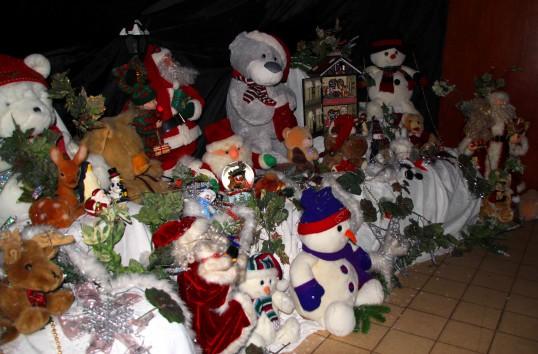 Santa's Grotto at the Pymoor Cricket & Social Club Christmas Bazaar 2011.