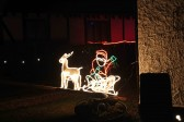 Christmas Lights outside the Old Mill in Pymoor 2012.