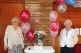 Joan & Vera Saberton celebrated their birthdays with a party at the Pymoor Cricket & Social Club, Pymoor 2011.
