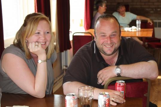 Fran Flack & Dale Parson at Joan & Vera Saberton's birthday party at the Pymoor Cricket & Social Club, Pymoor.