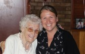 Tina Parson with her Nana at Joan and Vera Saberton's birthday party at the Pymoor Cricket & Social Club, Pymoor, 2011.