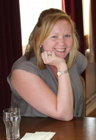 Fran Flack at Joan and Vera Saberton's birthday party at the Pymoor Cricket and Social Club, Pymoor, 2011.
