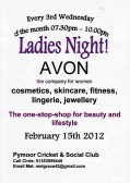 It's Ladies Night at the Pymoor Cricket & Social Club, Feb 2012