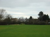 The proposed site in the SW corner of the Pymoor Cricket Ground, Pymoor Lane, Pymoor, for the children's Skateboard Park.