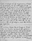 Notes on the Care & Mainenance of Horses by John Dewsbury of Pymoor Lane, Pymoor. (Click on next thumbnail to view next page.)