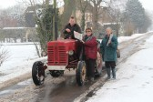 Pymoor received a significant fall of snow during the night of the 4th/5th February 2012. Richard Freeman delivered the Sunday Newspapers by tractor!