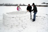 Pymoor received a significant fall of snow during the night of the 4th/5th February 2012. Villagers took the opportunity to build an Igloo!.