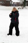 Pymoor received a significant fall of snow during the night of the 4th/5th February 2012. Tracy Butcher looks for a photo opportunity.
