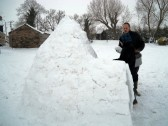Pymoor received a significant fall of snow during the night of the 4th/5th February 2012. Mark Alibon & his son built this Igloo in Pymoor Lane.