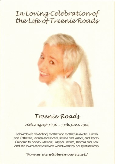 Treenie Roads (nee Barker), formally of Oxlode and Pymoor, who passed away on the 11th June 2006 aged 69 years.