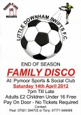 Little Downham Swifts FC held a Family Disco at the Pymoor Cricket Club, Pymoor Lane, Pymoor, 2012.