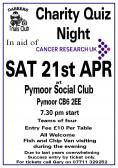 Gary Palmer & the Dabbers Trials Club held a Charity Quiz Night at the Pymoor Cricket & Social Club in Pymoor Lane, Pymoor 2012.