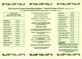 Brochure for East Cambs Garden & Building Supplies, of Straight Furlong, Pymoor.