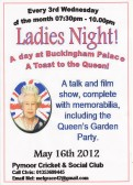 The ladies of Pymoor enjoyed a film show & talk given by Janet South about her attendance at the Queen's Garden Party at Buckingham Palace, May 2012.