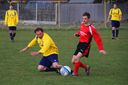 Tony Ure playing for Little Downham Swifts FC at the club's home ground in Pymoor, 2012