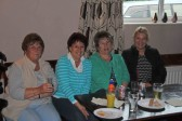 Cynthia Parson, Christine Saberton, Gail Taylor & Pat Golding at the Pymoor Cricket Club, Pymoor Lane, Pymoor 2012.