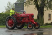 Richard Freemen leaving the Pymoor Cricket Club, Pymoor Lane, Pymoor, during the Vintage Tractor Rally.