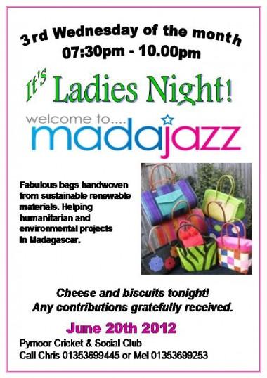 It's Ladies Night at the Pymoor Cricket & Social Club, Pymoor Lane, Pymoor, Jun 2012