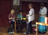 Queueing for Bingo tickets at the Pymoor Social Club, Pymoor Lane, Pymoor 2012.