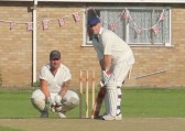 Pymoor CC v Doddington CC. Shaun Butcher batting. 2012