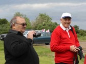 Basil Taylor & Roger Davis at the Diamond Jubilee Fun Day in Pymoor 2012.
