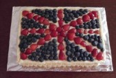 Inger Van Ogtrop made this cake for the Diamond Jubilee Fun Day in Pymoor 2012.
