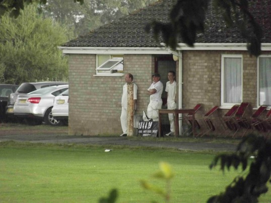 A very heavy hailstorm caused the abandonment of Pymoor CC's last home game of the season. . The wettest Summer for 100 years. 2012