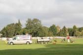 Pitch maintenance at the Pymoor Cricket Club, Pymoor Lane, Pymoor 2012.