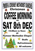 Pymoor  Methodist Chapel held a Christmas Coffee Morning at the Chapel in Main Street, Pymoor, 2012.