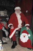 Santa in his Grotto at the Pymoor Cricket & Social Club Christmas Bazaar 2012