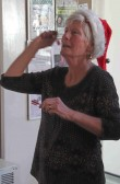 Maggie Taylor at the Pymoor Cricket & Social Club Christmas Bazaar 2012