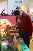 Bob Ure at the Pymoor Cricket & Social Club Christmas Bazaar 2012