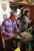 Bill Dennis & Julie Knowles at the Pymoor Cricket & Social Club Christmas Bazaar 2012