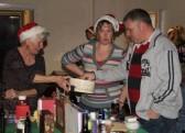 Maggie Taylor with Jenny & Paul Spittlehouse at the Pymoor Cricket & Social Club Christmas Bazaar 2012