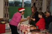 Christine Saberton serving teas at the  Pymoor Cricket & Social Club Christmas Bazaar 2012