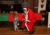 Santa at the Pymoor Cricket & Social Club Christmas Bazaar 2012